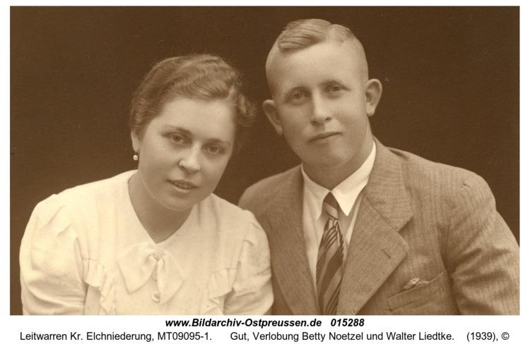 Leitwarren, Gut, Verlobung Betty Noetzel und Walter Liedtke