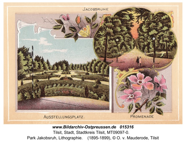 Tilsit, Park Jakobsruh, Lithographie