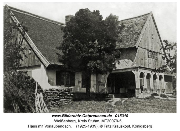 Weißenberg, Haus mit Vorlaubendach
