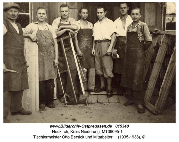 Neukirch, Tischlermeister Otto Bersick und Mitarbeiter