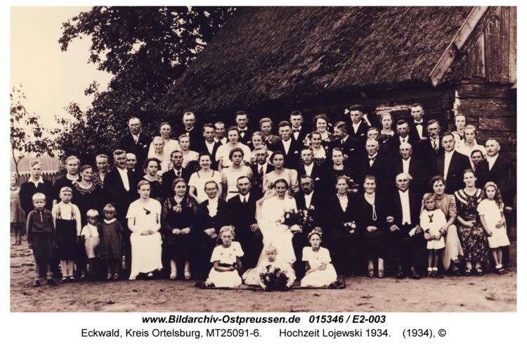 Eckwald, Hochzeit Lojewski 1934