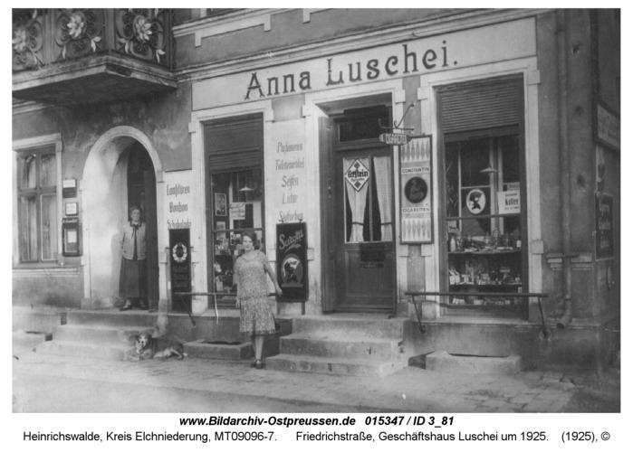 Heinrichswalde, Friedrichstraße, Geschäftshaus Luschei um 1925