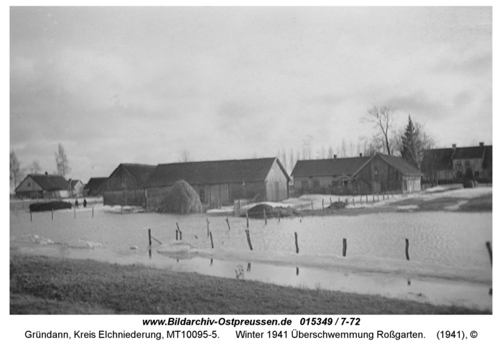 Gründann, Winter 1941 Überschwemmung Roßgarten