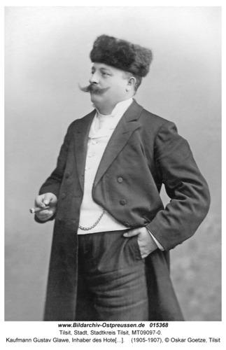 Tilsit, Kaufmann Gustav Glawe, Inhaber des Hotels Metropole, Hohe Str. 35
