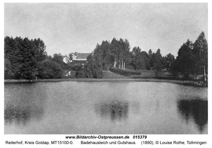 Reiterhof, Badehausteich und Gutshaus