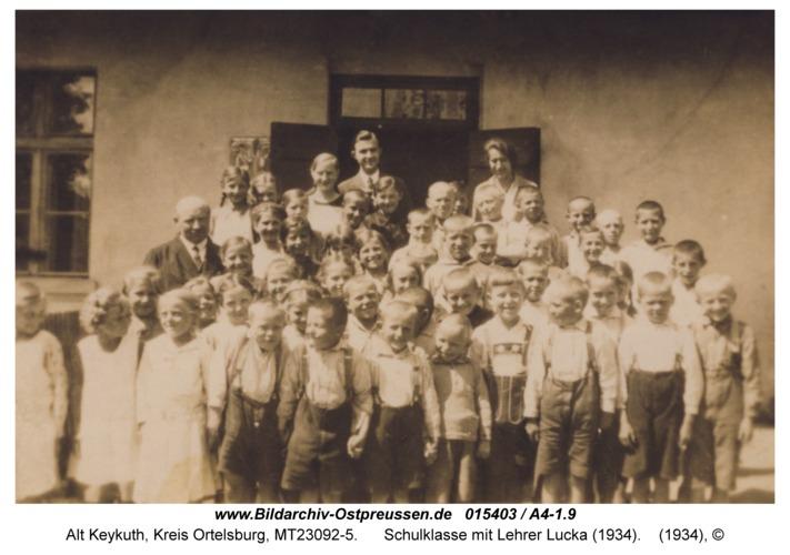 Alt Keykuth, Schulklasse mit Lehrer Lucka (1934)