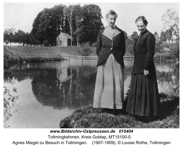 Tollmingen, Agnes Miegel zu Besuch in Tollmingen