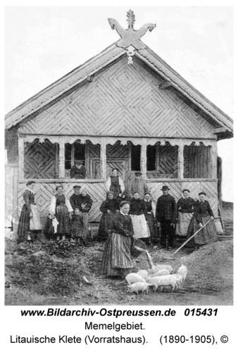 Memelgebiet, Litauische Klete (Vorratshaus)