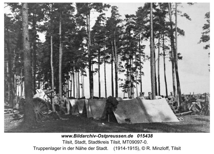 Tilsit, Truppenlager in der Nähe der Stadt