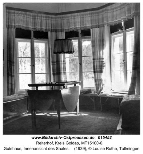Reiterhof, Gutshaus, Innenansicht des Saales