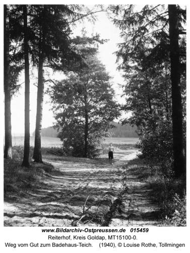 Reiterhof, Weg vom Gut zum Badehaus-Teich