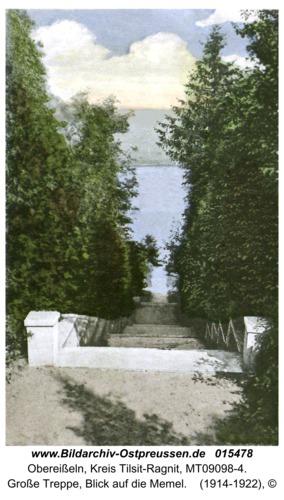 Obereißeln, Große Treppe, Blick auf die Memel