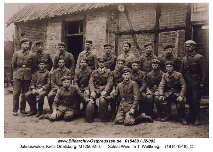 Jacobswalde, Soldat Wino im 1. Weltkrieg