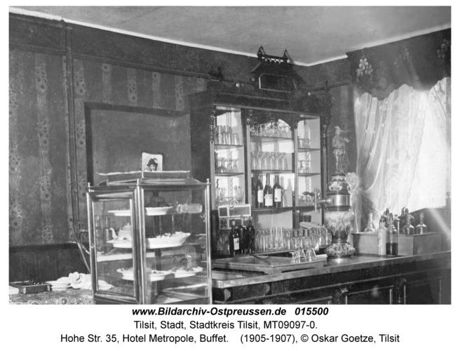 Tilsit, Hohe Str. 35, Hotel Metropole, Buffet