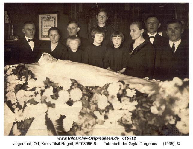 Jägershof, Totenbett der Gryta Dregenus