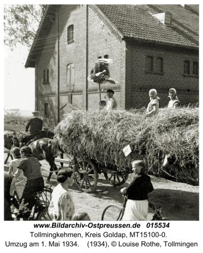 Tollmingen, Umzug am 1. Mai 1934