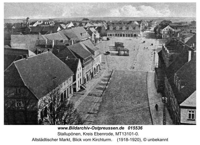 Ebenrode, Alter Markt aus der Vogelperspektive
