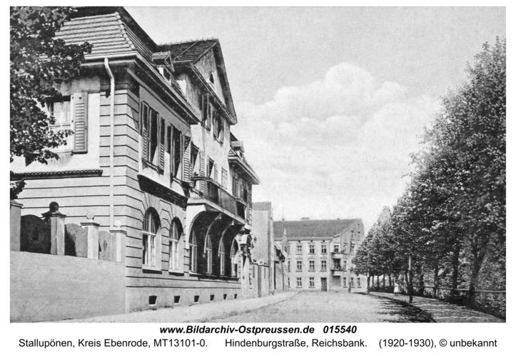 Ebenrode, Reichsbank