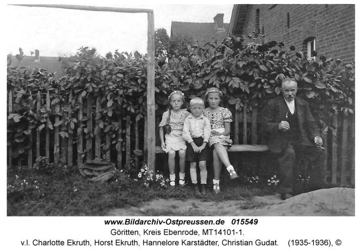 Göritten, v.l. Charlotte Ekruth, Horst Ekruth, Hannelore Karstädter, Christian Gudat