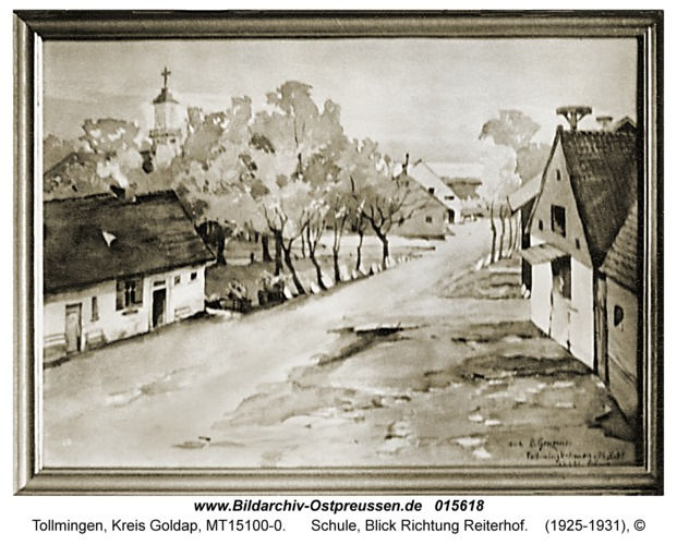 Tollmingen, Schule, Blick Richtung Reiterhof