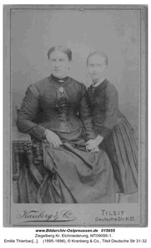 Ziegelberg, Emilie Thierbach und Tochter Käthe