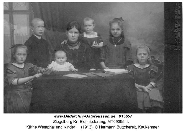 Ziegelberg, Käthe Westphal und Kinder
