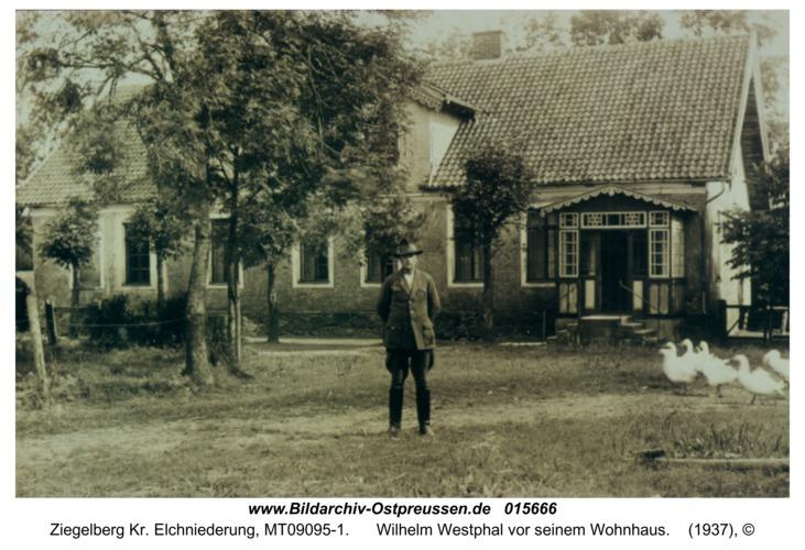 Ziegelberg, Wilhelm Westphal vor seinem Wohnhaus