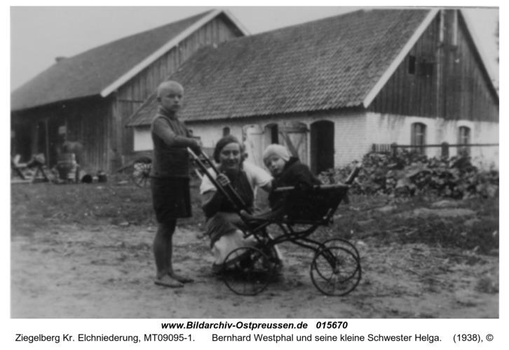 Ziegelberg, Bernhard Westphal und seine kleine Schwester Helga