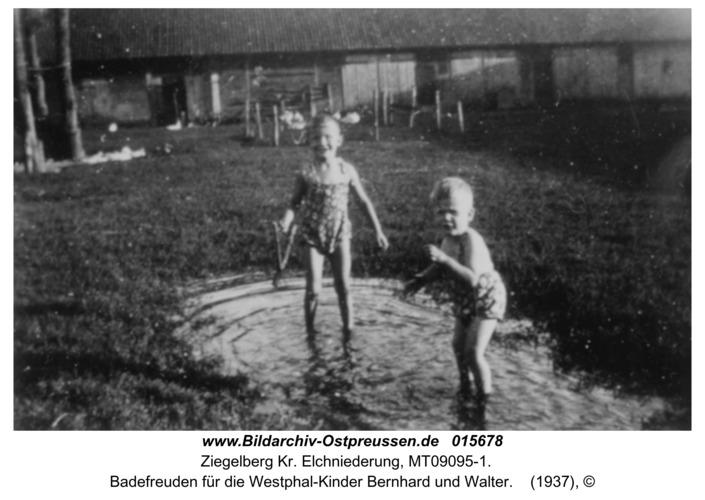 Ziegelberg, Badefreuden für die Westphal-Kinder Bernhard und Walter