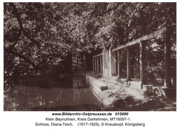 Kleinbeinuhnen, Schloß, Diana-Teich