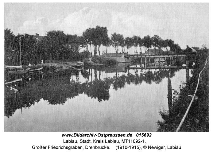Labiau, Großer Friedrichsgraben, Drehbrücke