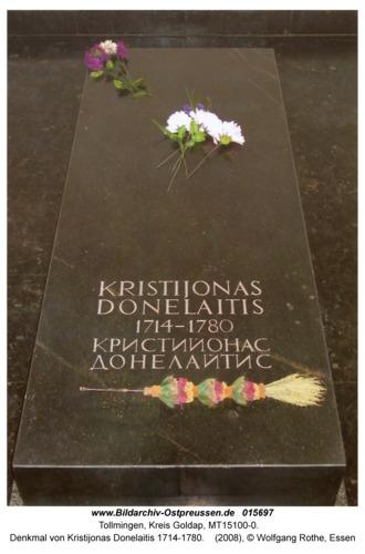 Tollmingen, Denkmal von Kristijonas Donelaitis 1714-1780