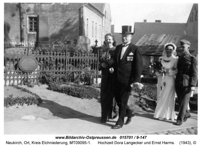 Neukirch, Hochzeit Dora Langecker und Ernst Harms