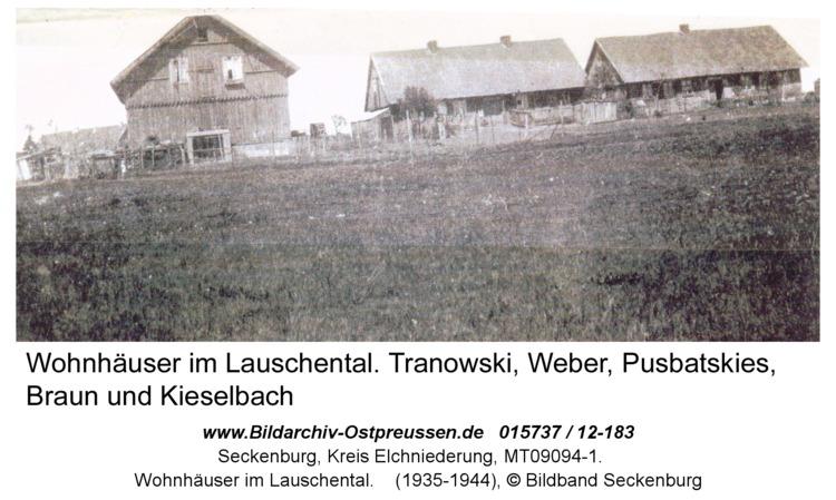Seckenburg, Wohnhäuser im Lauschental