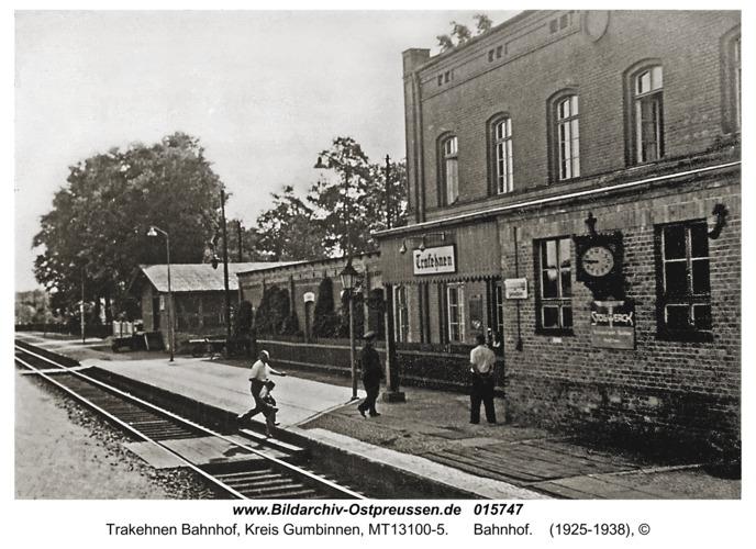 Trakehnen Bahnhof, Bahnhof