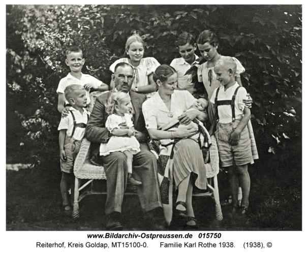 Reiterhof, Familie Karl Rothe 1938