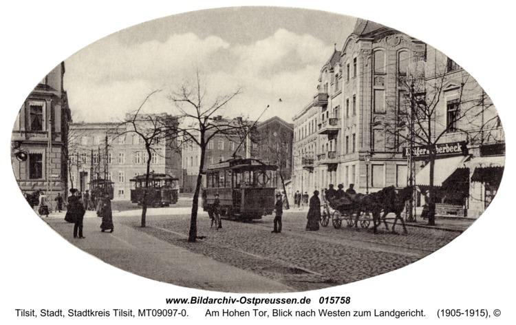 Tilsit, Am Hohen Tor, Blick nach Westen zum Landgericht
