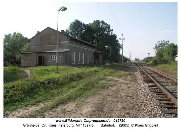 Grünheide Kr. Insterburg, Bahnhof