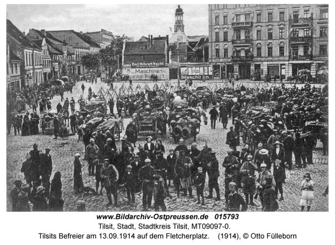 Tilsit, Tilsits Befreier am 13.09.1914 auf dem Fletcherplatz