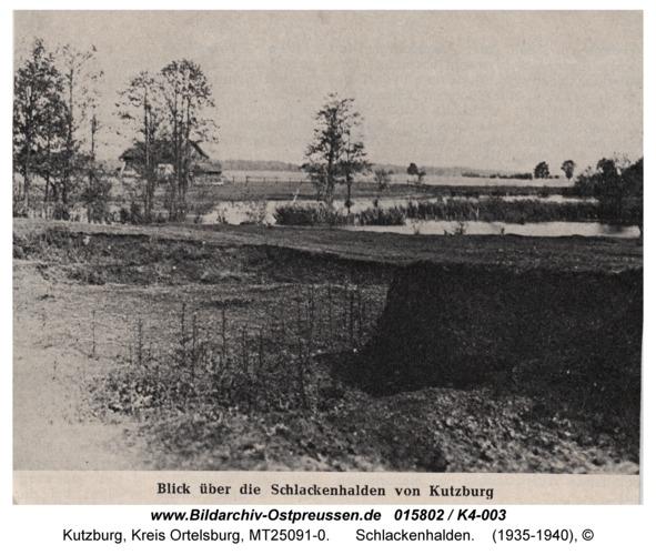 Kutzburg, Schlackenhalden