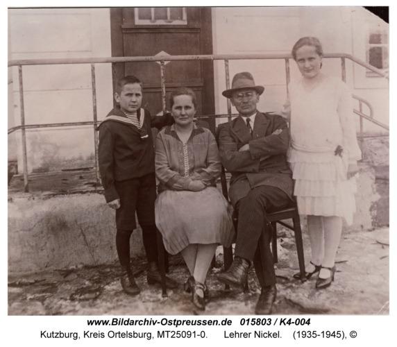 Kutzburg, Lehrer Nickel