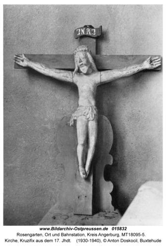 Rosengarten Kr. Angerburg, Kirche, Kruzifix aus dem 17. Jhdt