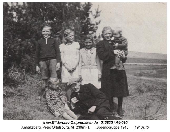 Anhaltsberg, Jugendgruppe 1940