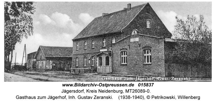 Jägersdorf Kr. Neidenburg, Gasthaus zum Jägerhof, Inh. Gustav Zeranski