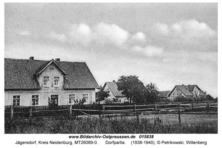 Jägersdorf Krs Neidenburg, Dorfpartie