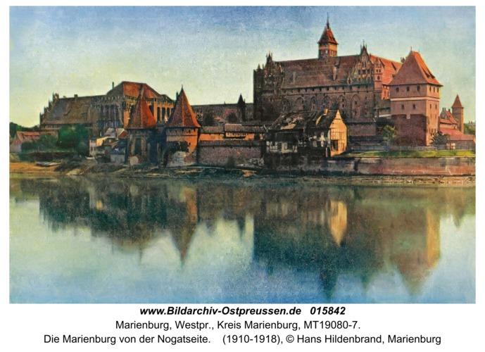 Marienburg, Die Marienburg von der Nogatseite