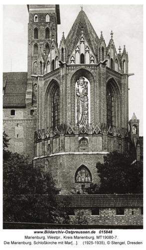 Marienburg, Die Marienburg, Schloßkirche mit Marienbild