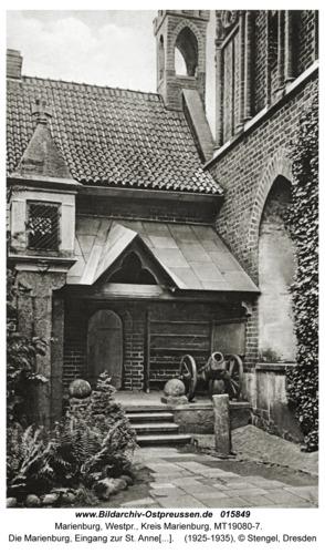 Marienburg, Die Marienburg, Eingang zur St. Annenkapelle