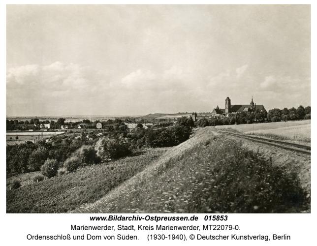 Marienwerder, Ordensschloss und Dom von Süden