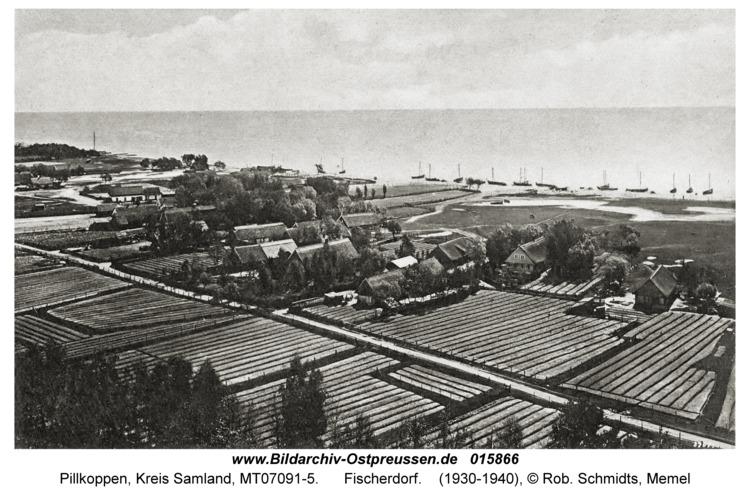 Pillkoppen, Fischerdorf